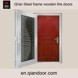 Деревянная дверка топки с дверью костюма двойной рамки нержавеющей стали