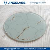 Usine en verre de feuille de porte Tempered en céramique décorative en verre de Siclkscreen d'art