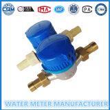 Solo contador del agua de la rueda de la paleta de jet de la dial seca