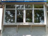 Finestra di alluminio popolare della stoffa per tendine di Feelingtop con il rivestimento bianco della polvere