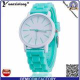 L'élastique très bon marché Genève de silicones de vente en gros d'usine de Yxl-819 Chine observe Madame montre