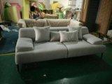 Sofa sectionnel de tissu de toile simple de deux portées réglé pour l'usage à la maison (LFS-001)
