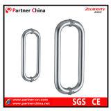 Manija de cristal del tirón de la puerta del acero inoxidable de la alta calidad (01-101)