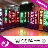El soporte bilateral LED del suelo que hace publicidad de la visualización de P10 escoge color