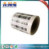 Tag pequeno plástico de RFID com código de barras/Tag descartáveis de RFID