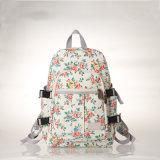 El ordenador blanco del PVC de los modelos florales impermeables de la lona Backpacks (23262)