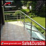 Balaustrada de vidro dos trilhos do aço inoxidável (DD002)