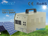 Suoer組み込み500Wインバーター12V 24ah携帯用太陽ホーム発電機システム(ST-D01S)