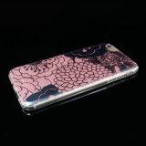 Cubierta/caja modificadas para requisitos particulares del polvo de la flor TPU de la pintura del tratamiento de IMD para el iPhone 5/6/6p