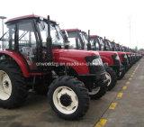 Trator agricultural da máquina 4WD com cabine