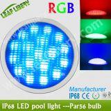 Ce chiaro subacqueo RoHS della lampada 12V della piscina di alto potere LED 18W PAR56