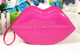 Großverkauf Shinny PVC-Lippe geformten Mund-Kosmetik-Beutel