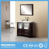 Classic Solid Wood Curve Bathroom Vanity with Frosted Door (BV169W)