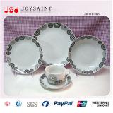 Le fournisseur tout de la Chine tape le jeu de dîner rond élégant de porcelaine