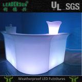 방수 플라스틱 탁자 Ldx-Z25에 의하여 분명히되는 현대 LED 바 카운터
