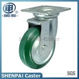 Roda de travamento rígida de borracha do rodízio de um Aço-Núcleo de 4 polegadas