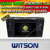 Carro DVD GPS do Android 5.1 de Witson para a classe de Mercedes-Benz E com sustentação do Internet DVR da ROM WiFi 3G do chipset 1080P 16g (A5791)