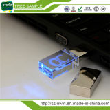 USB do cristal 3D com logotipo do laser