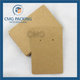 Tarjeta plástica de la visualización de la curva del pelo del PVC del negro (CMG-068)
