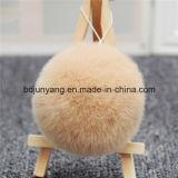 Большой Pompom Keychain шерсти кролика способа