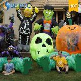 Decorazioni gonfiabili di Halloween della Camera del gatto nero della zucca del fantasma gonfiabile di spirito