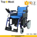 Alumínio de Topmedi que dobra a cadeira de rodas elétrica incapacitada da potência