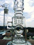 K42 23inch weißes Sahnegefäß-Doppeldusche inline filtrieren Wasser-Glas-Rohre