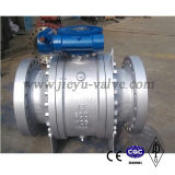 API6D yeso en el cuerpo de acero al carbono Wcb 2 Piezas con bridas de muñón montado en la válvula de bola