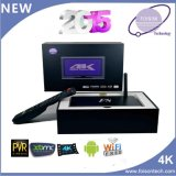 Caixa Android da tevê com canaletas Apk do Indian das canaletas de África e da caixa de IPTV