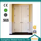 Aço branco porta de madeira aprontada da segurança de MDF/HDF (WHB04)
