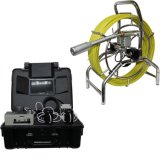 Self-Leveling 관 하수도 배수장치 배관공사 검사 사진기 시스템, DVR 기능, 미터 카운터, 60m 의 7mm 케이블