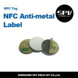 Papel revestido Ntag216 ISO14443A do Tag 13.56MHz do Anti-Metal de Nfc