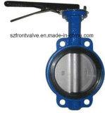 Fer de moulage/vannes papillon centrales de disque fer malléable