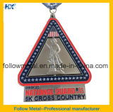 Изготовленный на заказ медаль закрутки с тесемкой сублимации для фертига-аппарат