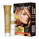 TazolのヘアーケアのColorshineの毛カラー(金ブラウン) (50ml+50ml)