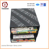 Чернота 2mm Thickness Paper Card Storge Box с Rivet