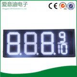 Sinal do posto de gasolina do diodo emissor de luz, preço de gás do diodo emissor de luz que anuncia o sinal
