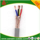 Fio de cobre da isolação do PVC que trança o fio elétrico macio