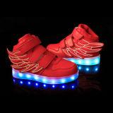 소녀 형식 운동화 LED 가벼운 스포츠 단화