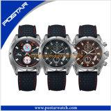 Wristwatch кварца рук вахты 3 Caseback нержавеющей стали способа мира ультрамодный