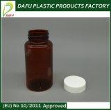 botella farmacéutica plástica ambarina 150ml