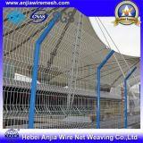 Frontière de sécurité soudée enduite par PVC de degré de sécurité de frontière de sécurité de treillis métallique