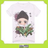 新しい中国女性Tシャツ(F108)のためのFashionデザインによって印刷されるTシャツの製造業者