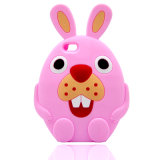 Caja del teléfono celular de la historieta del silicón del conejo para el iPhone (XSDW-031)