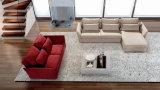 ホーム使用またはホテルの家具のための美しいArmrestが付いている部門別ファブリックソファー