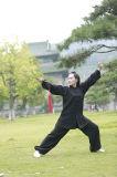 高級な長袖パフォーマンスWudang Taiのキーの女性の厚いリネン衣類