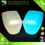 庭のためのPE Plastic Sofa Chair LED Outdoor Furniture