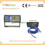 24의 채널 통신로 온도 (AT4524)를 가진 전자 온도계