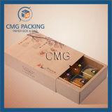 Коробки подарка бумаги Kraft Brown коробок печениь печатание логоса