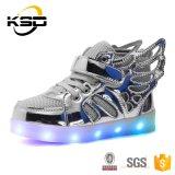 25-37 يشعل حجم [لد] فوق مزح أحذية مع جنوحات, عربيّة فتى بنات حذاء رياضة مضيئة